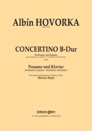 Albin Hovorka - Concertino B-Dur - Partition - di-arezzo.fr