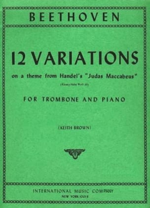 12 Variations - BEETHOVEN - Partition - Trombone - laflutedepan.com