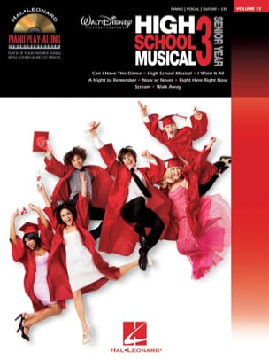 Piano Play-Along Volume 72 - High School Musical 3 - Partition - di-arezzo.fr