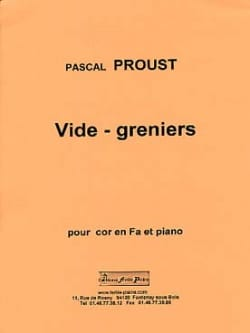 Vide-greniers - Pascal Proust - Partition - Cor - laflutedepan.com