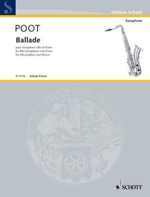 Ballade - Marcel Poot - Partition - Saxophone - laflutedepan.com