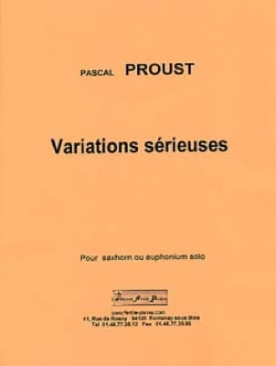 Pascal Proust - Serious variations - Sheet Music - di-arezzo.co.uk