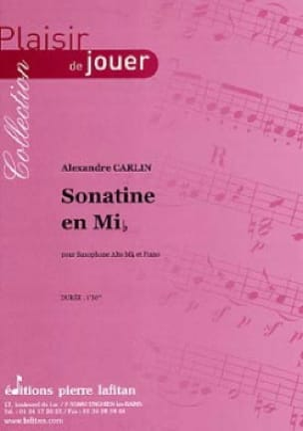 Alexandre Carlin - Sonatine en mib - Partition - di-arezzo.fr