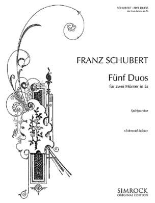 Cinq Duos pour 2 Cors en Mib - SCHUBERT - Partition - laflutedepan.com