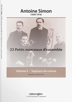 22 Petits Morceaux D' Ensemble Volume 4 Antoine Simon laflutedepan