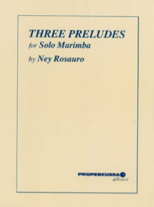 Three Preludes For Solo Marimba Ney Rosauro Partition laflutedepan