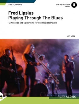 Playing Through The Blues Fred Lipsius Partition laflutedepan