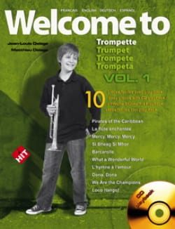 Welcome To Trompette Volume 1 Jean-Louis Delage Partition laflutedepan