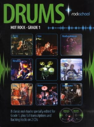 - Hot Rock Drums Grade 1 - Rockschool - Sheet Music - di-arezzo.co.uk