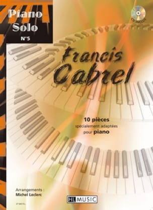 Françis Cabrel - Piano Solo N ° 5 - 10 pieces specially adapted for piano - Sheet Music - di-arezzo.co.uk