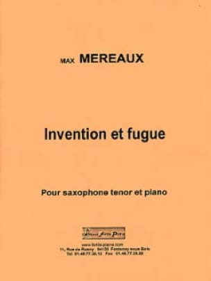 Max Méreaux - Invention et fugue - Partition - di-arezzo.fr