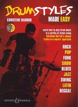 Christine Barron - Drum Styles Made Easy - Partitura - di-arezzo.it