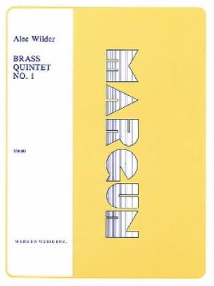 Alec Wilder - Brass Quintet N° 1 - Partition - di-arezzo.fr