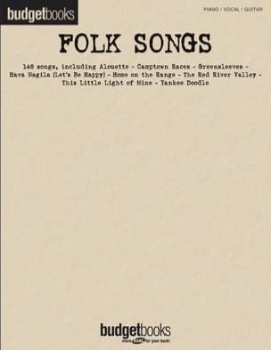 - Budget books - Folk songs - Partition - di-arezzo.fr