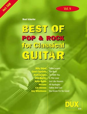 - Best of pop & rock for classical guitar volume 9 - Partition - di-arezzo.fr