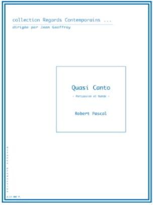 Robert Pascal - Quasi Canto - Partition - di-arezzo.fr