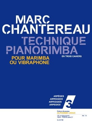 Marc Chantereau - Technique Pianorimba Notebook 3 - Arpeggios - Sheet Music - di-arezzo.co.uk