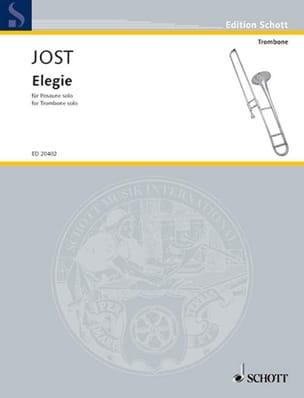 Elegie - Christian Jost - Partition - Trombone - laflutedepan.com