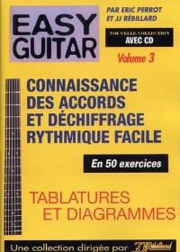 Easy guitar volume 3: Connaissance des accords et déchiffrage rythmique facile a laflutedepan
