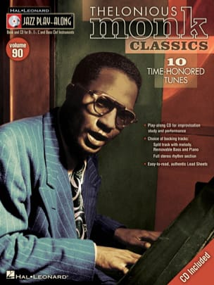 Thelonious Monk - Jazz play-along volume 90 - Thelonious Monk - Partition - di-arezzo.fr