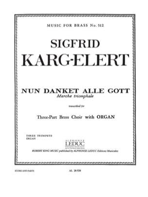 Nun Danket Alle Gott - Sigfrid Karg-Elert - laflutedepan.com