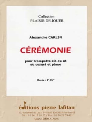 Ceremonie - Alexandre Carlin - Partition - laflutedepan.com