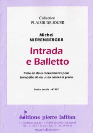 Intrada E Balletto Michel Nierenberger Partition laflutedepan