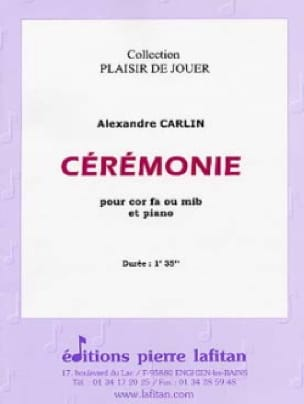Ceremonie Alexandre Carlin Partition Cor - laflutedepan