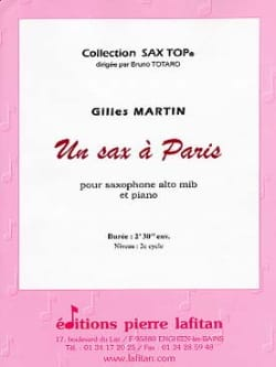 Gilles Martin - A Sax in Paris - Sheet Music - di-arezzo.com