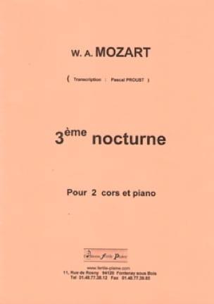 Wolfgang Amadeus Mozart - 3ème Nocturne - Partition - di-arezzo.fr