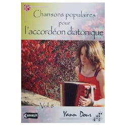 Yann Dour - Popular Songs For The Diatonic Accordion Volume 8 - Sheet Music - di-arezzo.co.uk