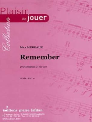 Remember Max Méreaux Partition Trombone - laflutedepan