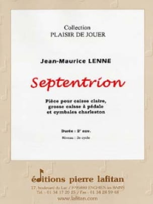 Jean-Maurice Lenne - Septentrion - Partition - di-arezzo.fr
