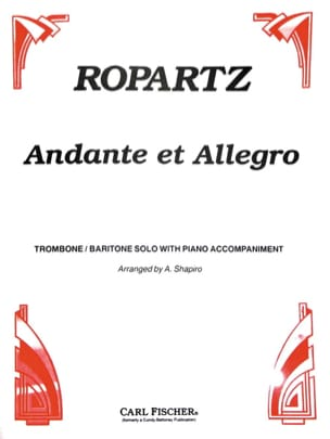 Guy Ropartz - Andante & Allegro - Partition - di-arezzo.fr