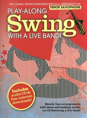 Play-Along Swing With A Live Band Partition Saxophone - laflutedepan
