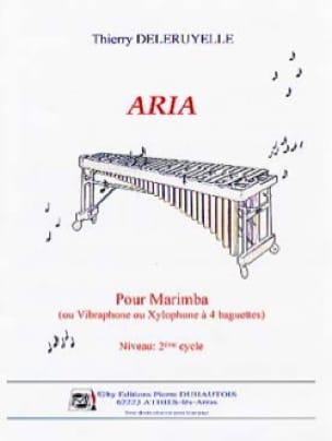 Aria Pour Marimba - Thierry Deleruyelle - Partition - laflutedepan.com