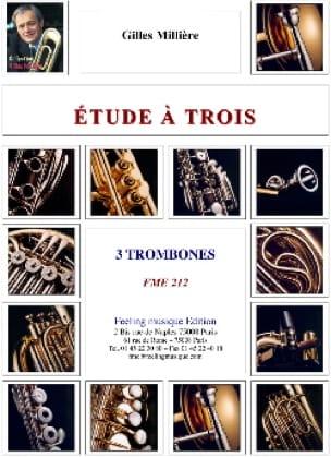 Etudes A Trois Gilles Millière Partition Trombone - laflutedepan