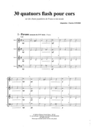 Charles Conord - 30 Quatuors Flash - Partition - di-arezzo.fr