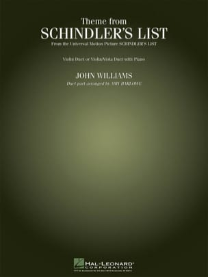 John Williams - Theme From Schindler's List - Partition - di-arezzo.fr