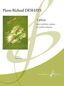 3 Pièces Pierre-Richard Deshays Partition Trombone - laflutedepan