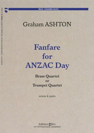 Graham Ashton - Fanfare For Anzac Day - Partition - di-arezzo.fr