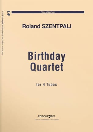 Roland Szentpali - Birthday Quartet - Partition - di-arezzo.fr