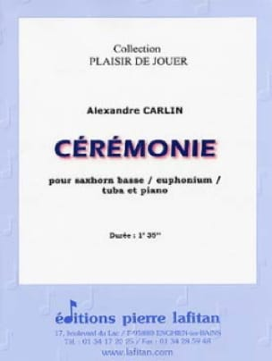 Alexandre Carlin - Ceremonie - Partition - di-arezzo.fr