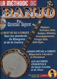 Séguret Christian / Rébillard Jean-Jacques - The banjo method 4 - 5 strings - Sheet Music - di-arezzo.com