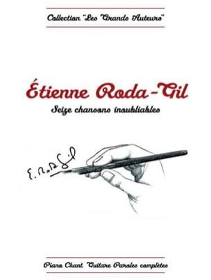 Etienne Roda-Gil - Seize Chansons Inoubliables - Partition - di-arezzo.fr
