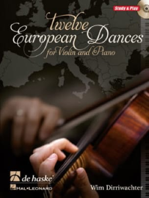 Wim Dirriwachter - Twelve European Dances - Partition - di-arezzo.fr