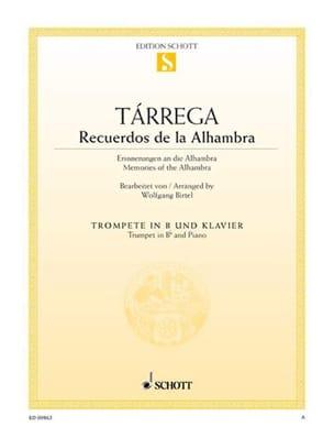 Recuerdos de la Alhambre TARREGA Partition Trompette - laflutedepan