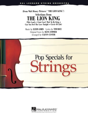 Elton John & Hans Zimmer - Selections From The Lion King - Pop Specials For Strings - Partition - di-arezzo.fr