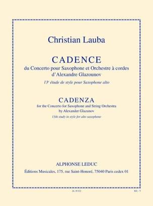 Christian Lauba - 13th Style Study - Cadence - Sheet Music - di-arezzo.co.uk