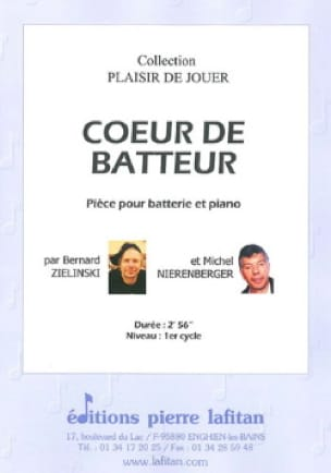 Zielinski Bernard / Nierenberger Michel - Coeur de batteur - Partition - di-arezzo.fr